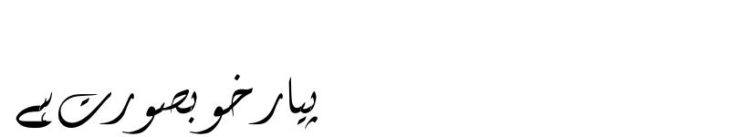 Preview of Diwani Letter Regular